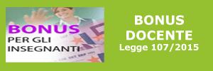 Bonus Docente Legge 107/2015